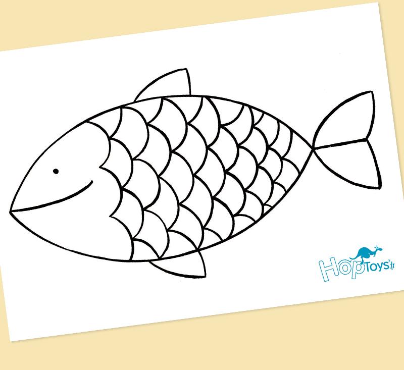 des poissons à colorier