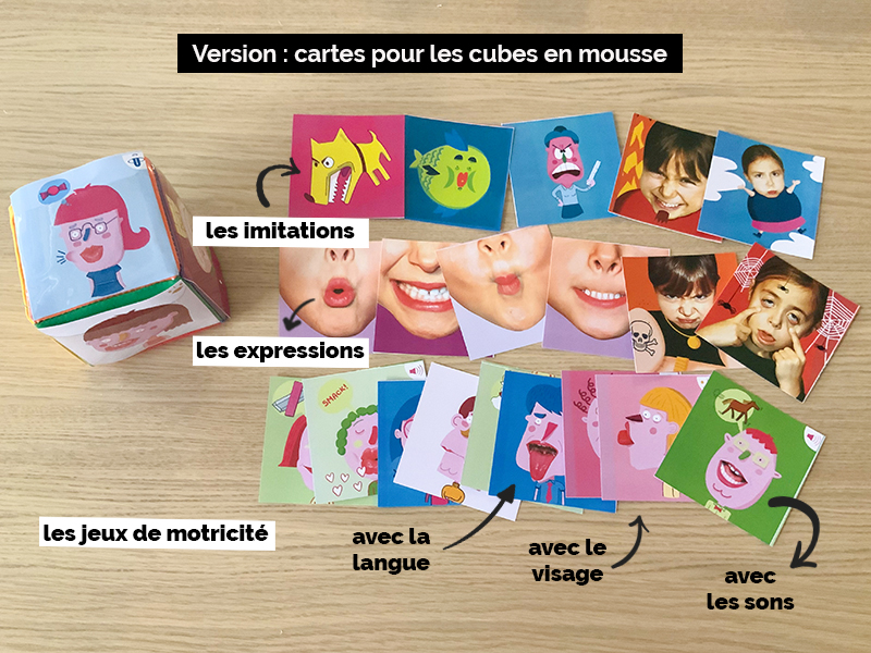 Cartes de motricité bucco-maxillaire