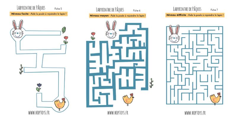 3 labyrinthes de Pâques