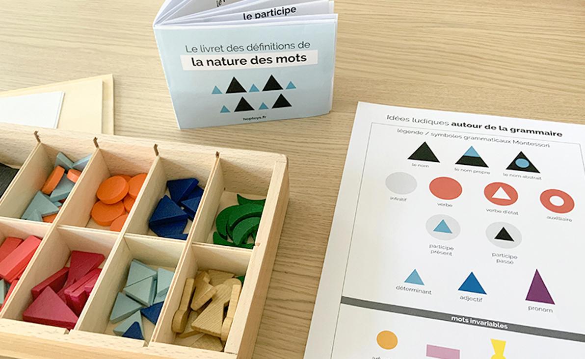 Réviser a grammaire avec Montessori