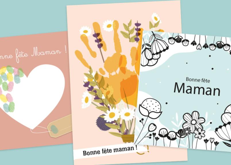 Des cartes à compléter pour la fête des mères