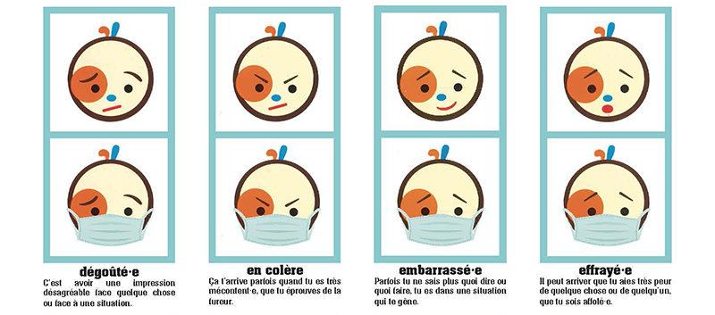 émotions avec masque poupée