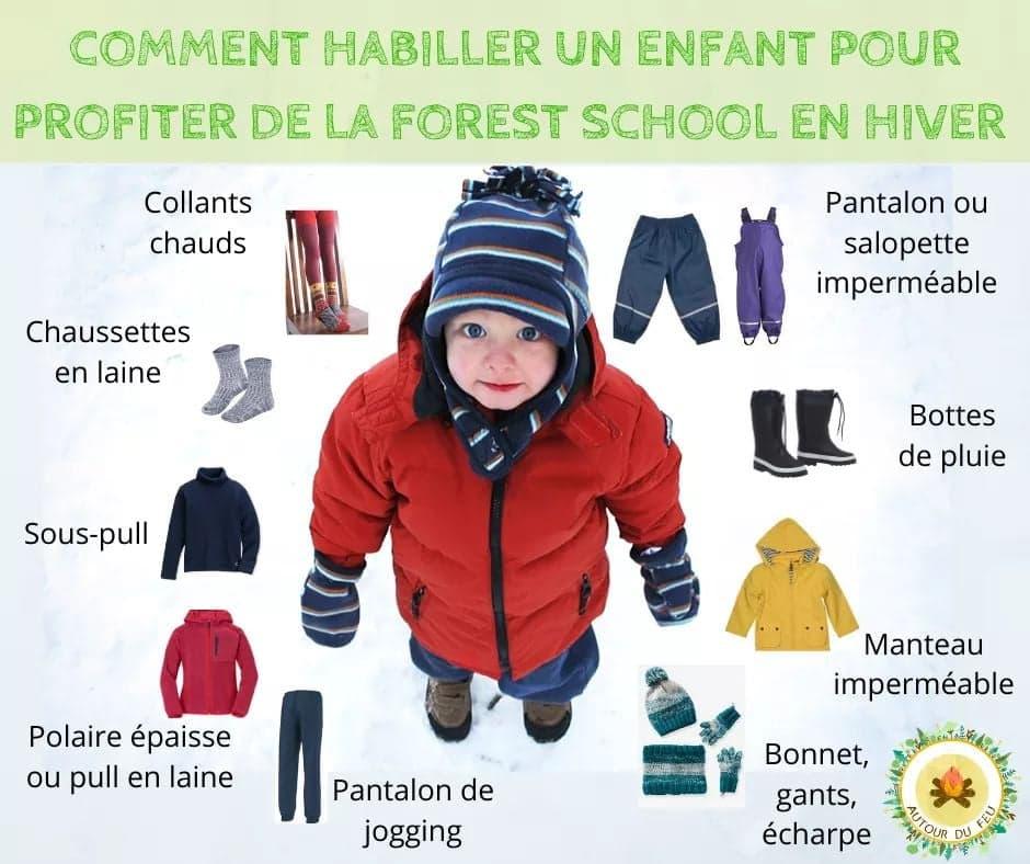 Comment habiller un enfant pour profiter de la forest school en hiver ?