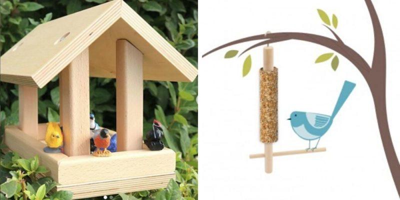 cabane à oiseaux et mangeoire