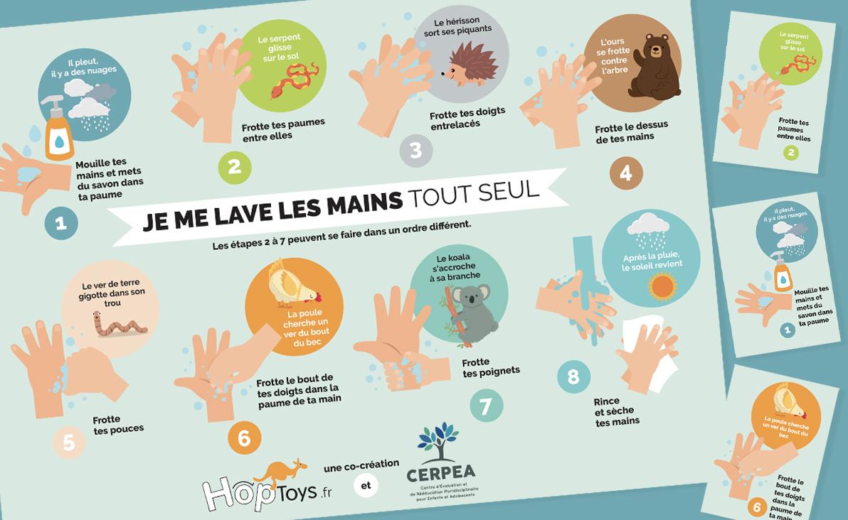 Infographie Je me lave les mains tout seul