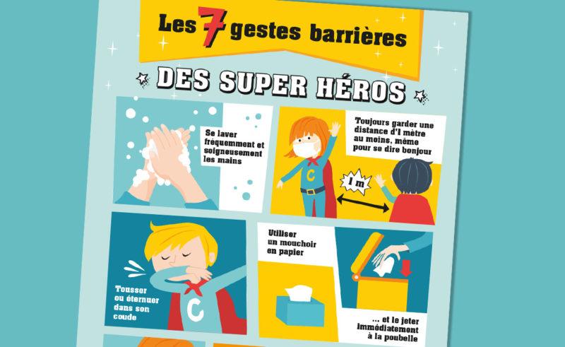 Les 7 gestes barrières des super héros