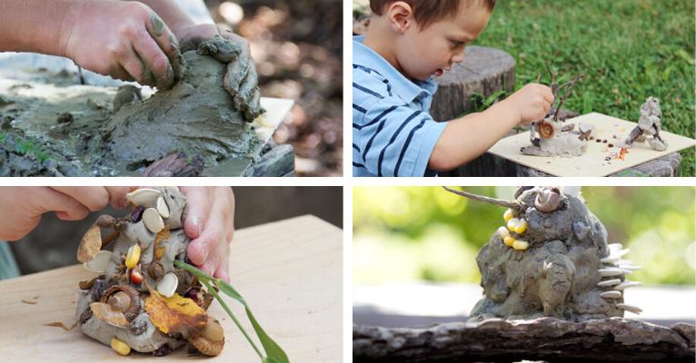 Créer des monstres de terre et d argile dans la forêt