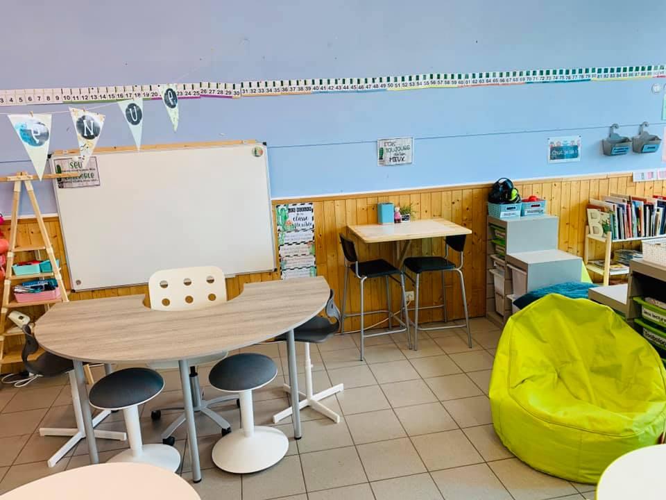 Une salle de classe adaptée