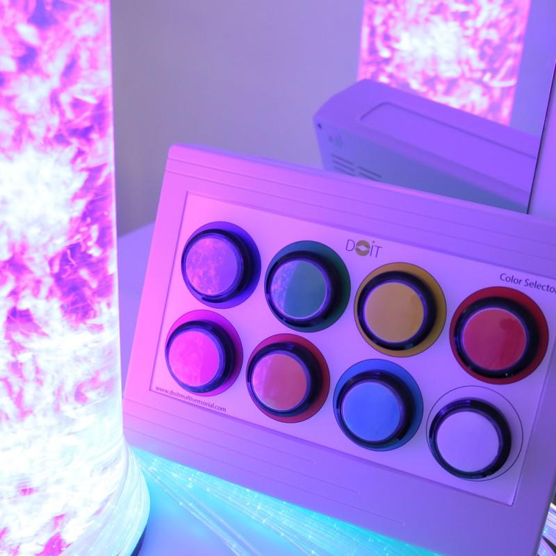 Un contrôleur pour modifier les couleurs des fibres et de la colonne à bulles