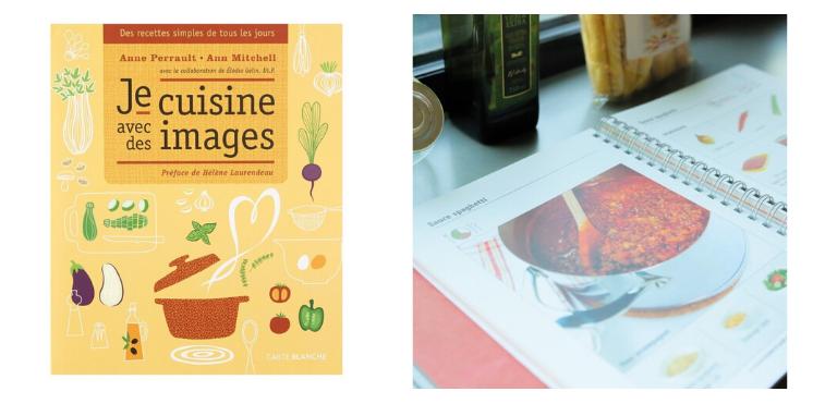 """Le livre """"Je cuisine avec des images"""" avec une recette"""