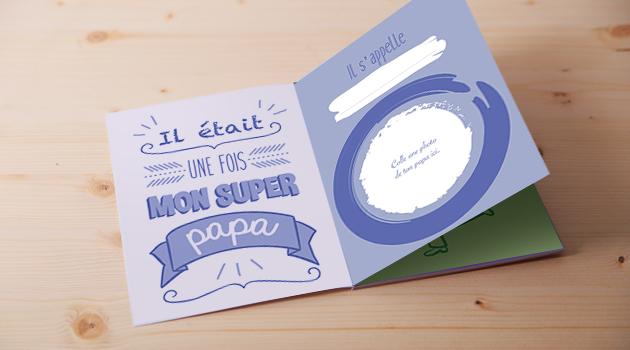 Un livre personnalisé pour la fête des pères