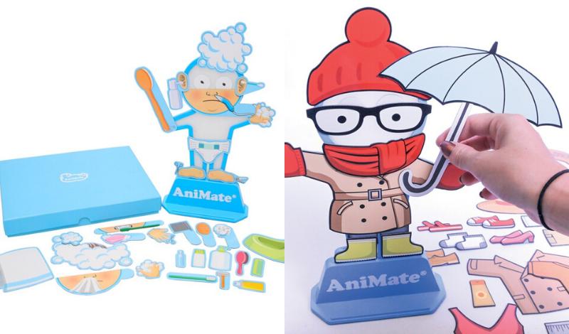 À gauche : pictogrammes AniMate hygiène corporelle, à droite : pictogrammes AniMate vêtements