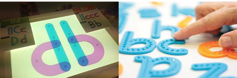 se familiariser avec la forme des lettres