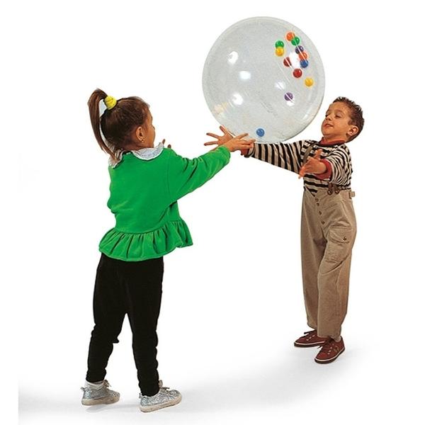 Ballon activité transparent 50 cm