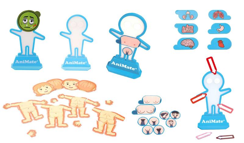 Pictogrammes AniMate puberté et sexualité, pictogrammes AniMate schéma corporel enfant, AniMate pointeur de douleurs