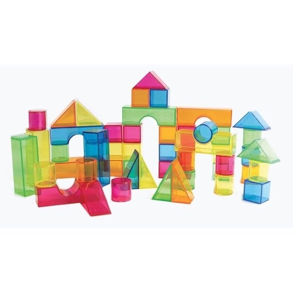 Cubes translucides multicolores par 50