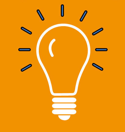 La créativité représentée par une ampoule allumée