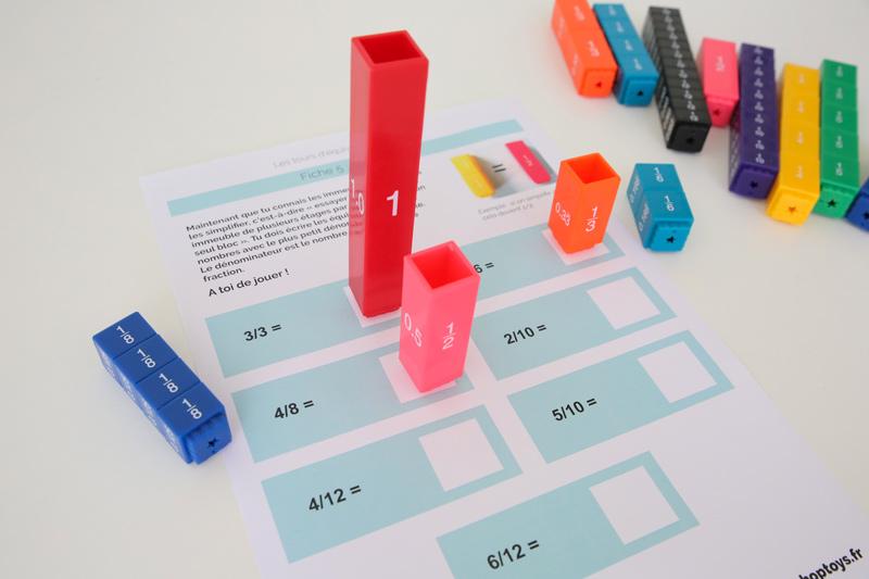 tours d'équivalences - simplifier les fractions