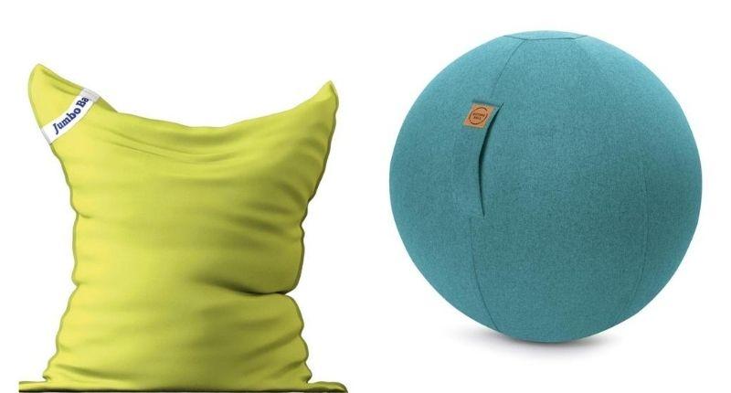 pouf géant et sitting ball