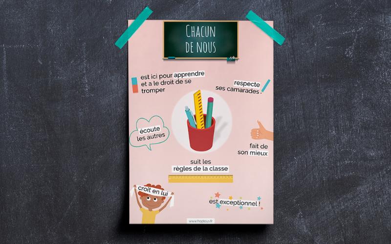 Une infographie sur les règles et valeurs de la classe