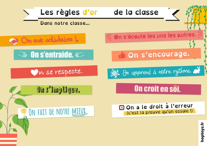 les règles d'or pour la classe
