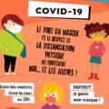 """Affiche pour les ados """"Consignes pour le Covid-19"""""""