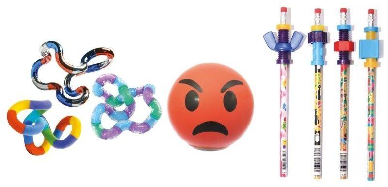 Tangle, stress head et crayon fidget