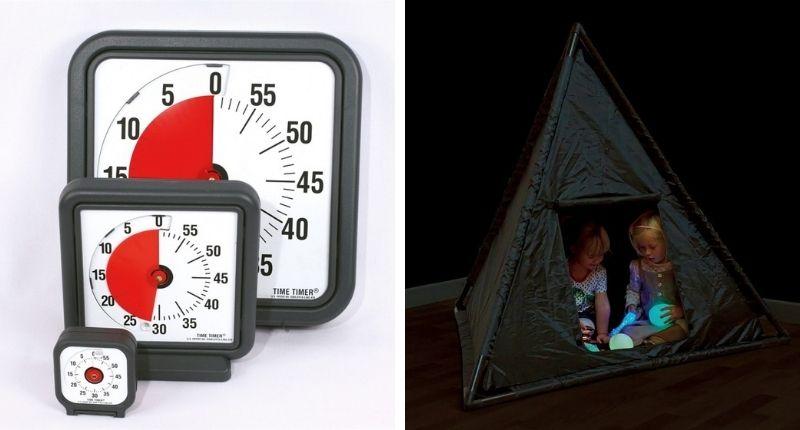 Time Timer et Tipi sensoriel