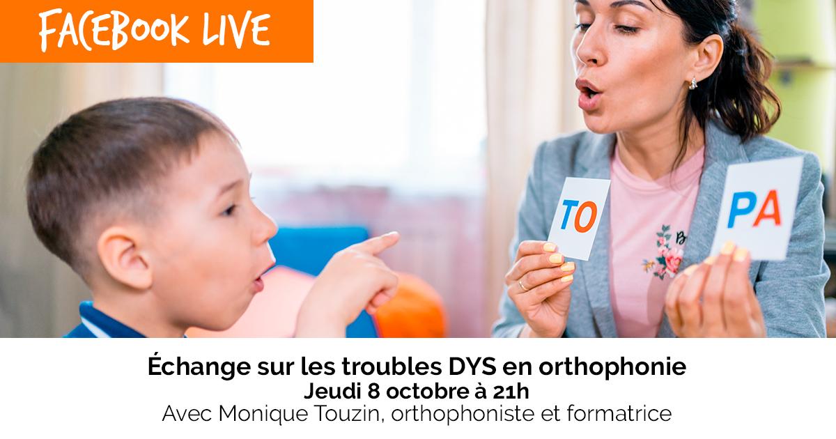 """S'inscrire à l'atelier online """" Échange sur les troubles DYS en orthophonie """""""