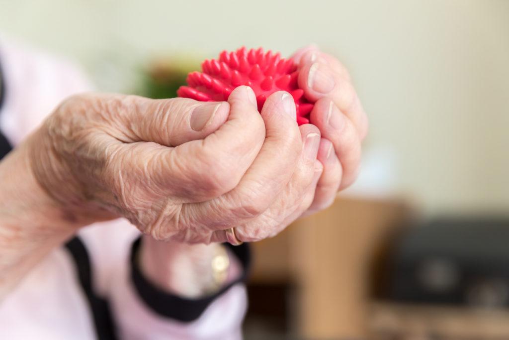 Ergothérapie : balle sensorielle