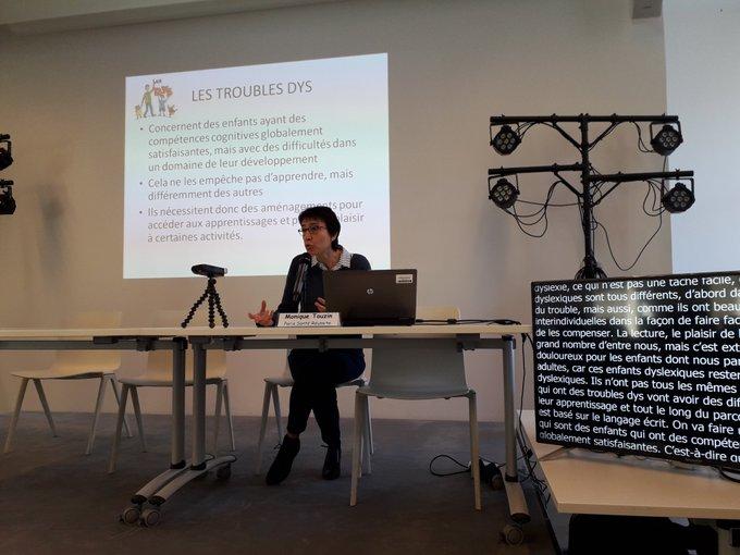 Monique Touzin en conférence