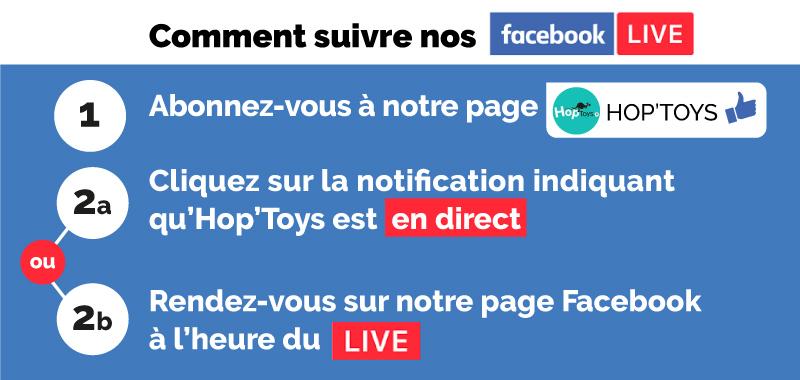 Comment suivre nos facebook live