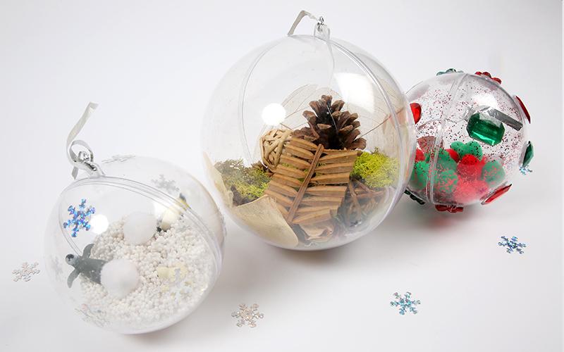 Activité : Créer des boules de Noël sensorielles