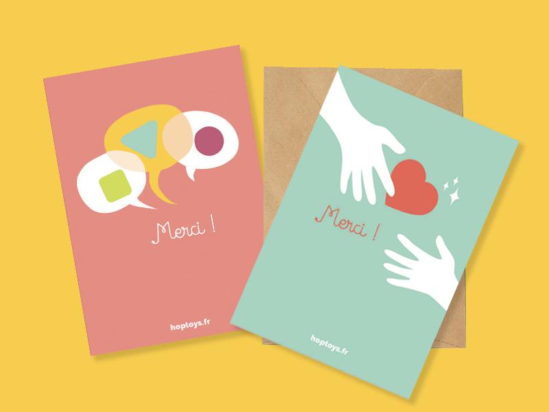 cartes de remerciement cadeaux personnalisés Noël