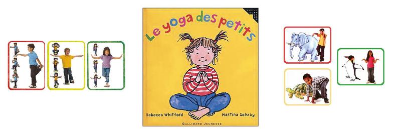 Carte et livre pour aider les enfants à pratiquer le yoga