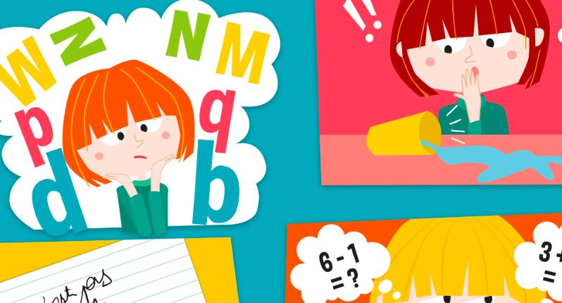 Illustration d'un enfant en difficulté d'apprentissage
