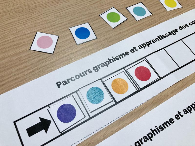 Parcours graphisme et apprentissage des couleurs