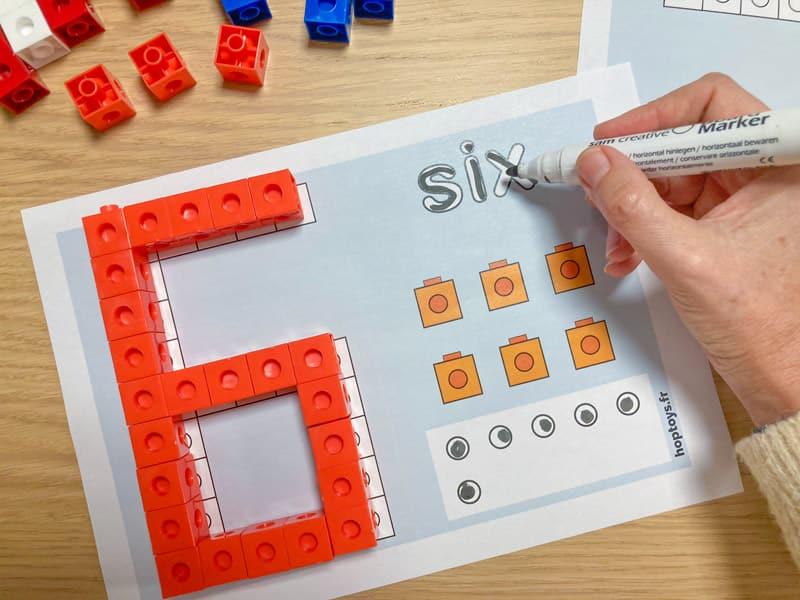 Fiches pour travailler les chiffres avec les Snap cubes et les cubes Mathlink