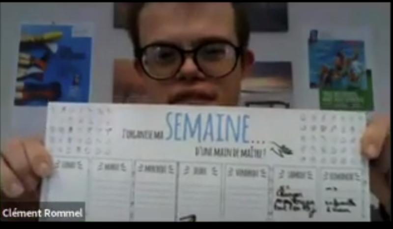 Clément Rommel et son planning de la semaine