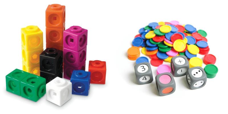 Les cubes Mathlinks et l'atelier couleurs et numération