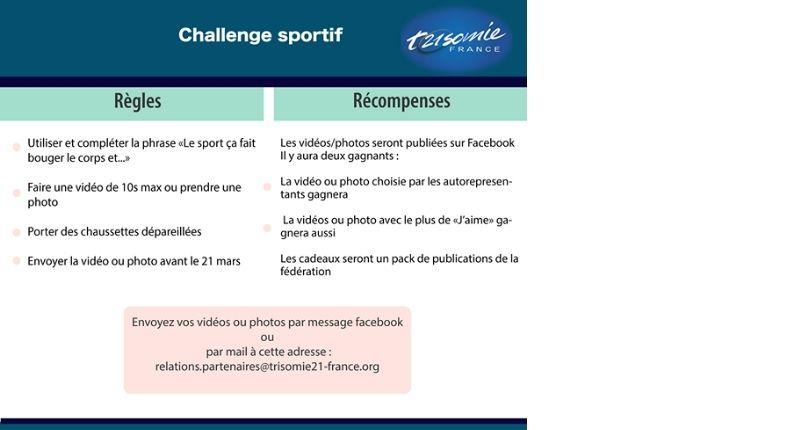 challenge sportif trisomie 21 2021