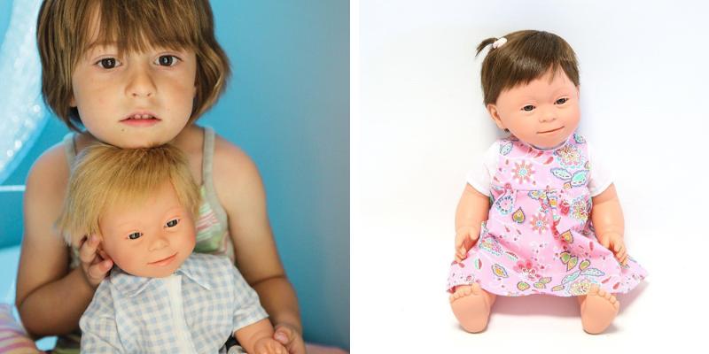 Des poupées porteuses de trisomie 21 pour sensibiliser les enfants.