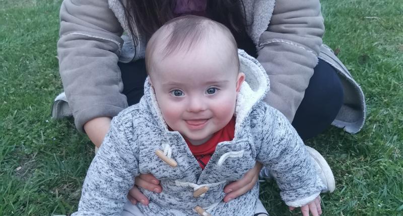 Une photo de Marley, bébé porteur de trisomie 21.