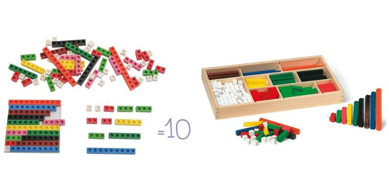 coffret réglettes des nombres et coffret bâtonnets de calcul
