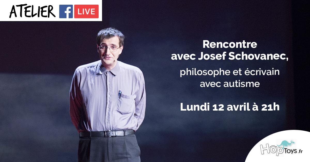 Facebook live sensibilisation à l'autisme avec Joseph Schovanec
