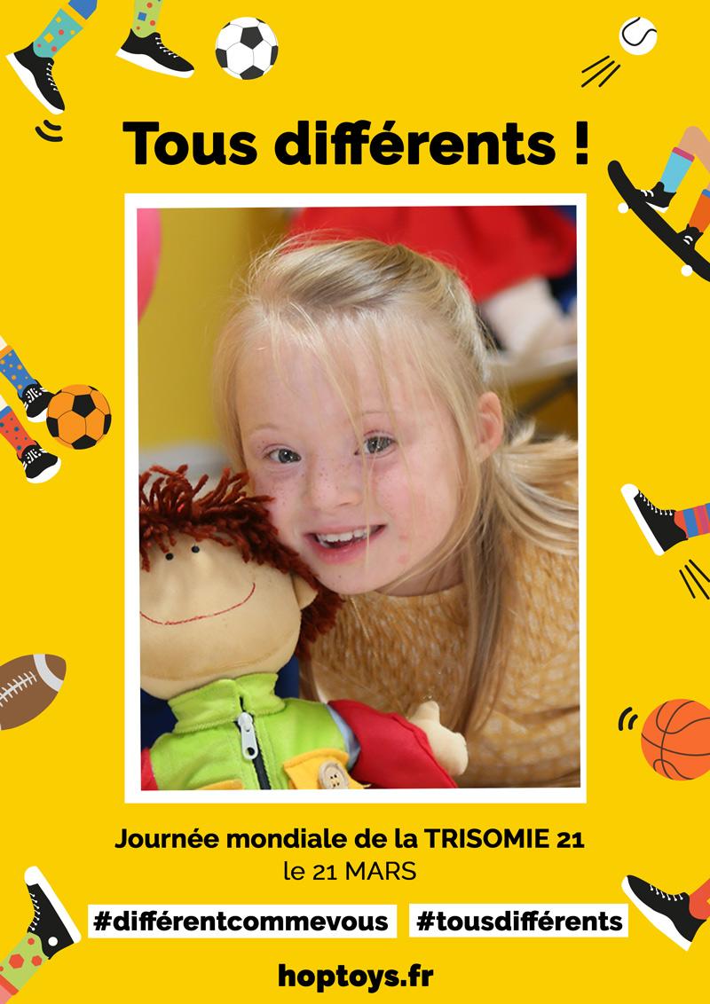 Affiches personnalisées Trisomie 21 T21 Tous différents !
