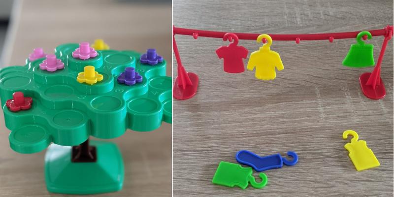 Les jeux utilisés par Cloé Maillet pour développer la motricité fine des enfants en UEMA.