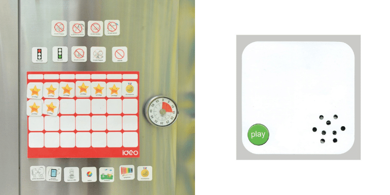 tableau ideo et mini-supports enregistreurs
