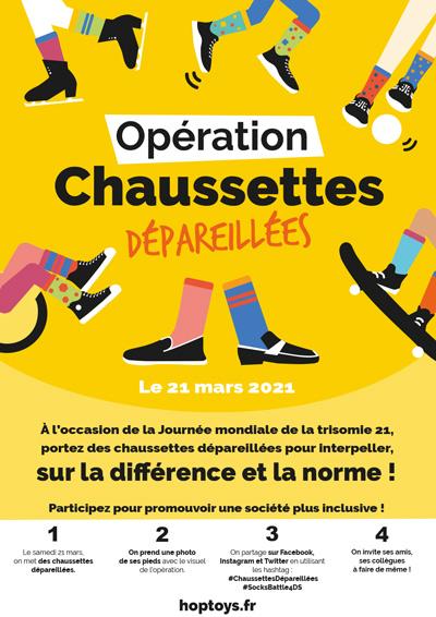 Affiche : Opération chaussettes dépareillées