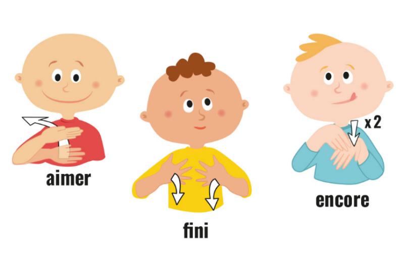 Des activités avec bébé : la langue des signes